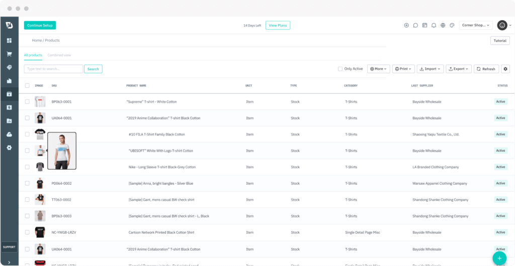 Product Inventory Interface